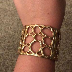 Lia Sophia Gold Expandable Cuff Bracelet
